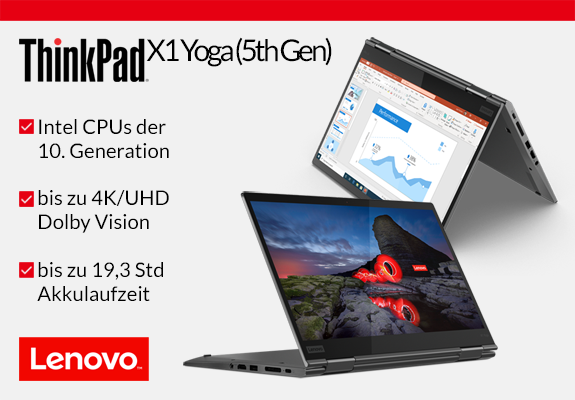 Das neue ThinkPad X1 Yoga (5th Gen) mit Intel CPUs der 10. Generation
